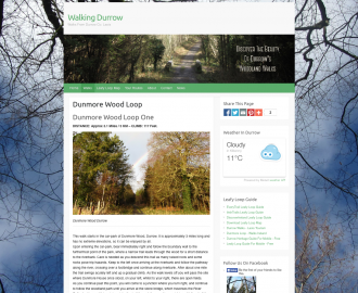 Walking Durrow Website by No Alphabet Web Design
