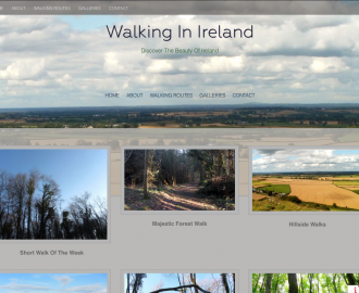Walking Website design by No Alphabet Web Design