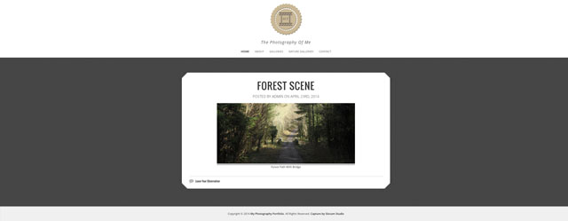Web Design For A Photography Website