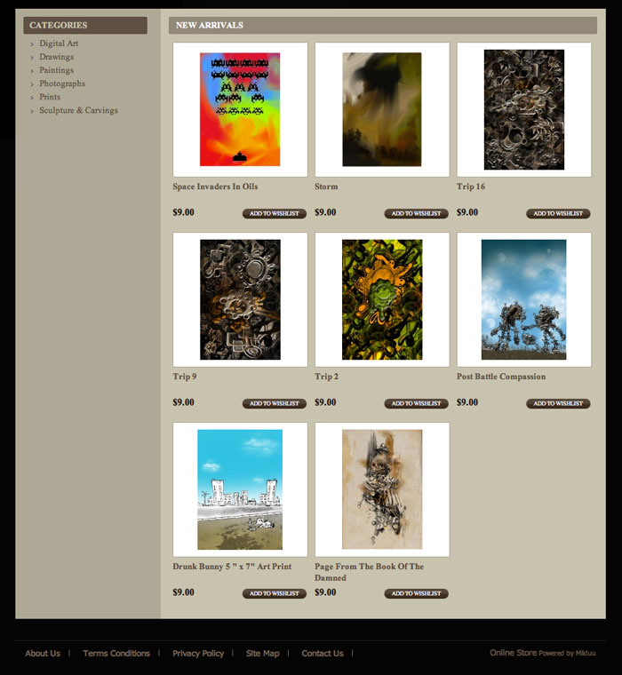 E Commerce Website For The Sale Of Art Prints