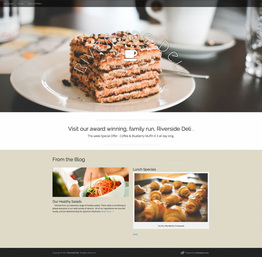 Website For A Deli