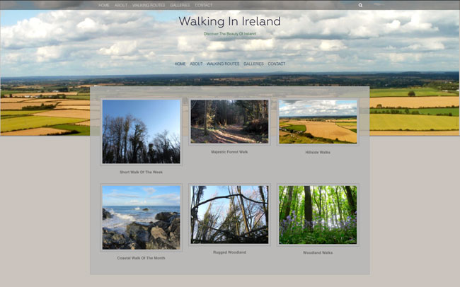 Walks In Ireland - Website Design