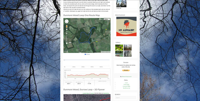 Sample of Laois Web Design. - Walking Website for Durrow Co. Laois.