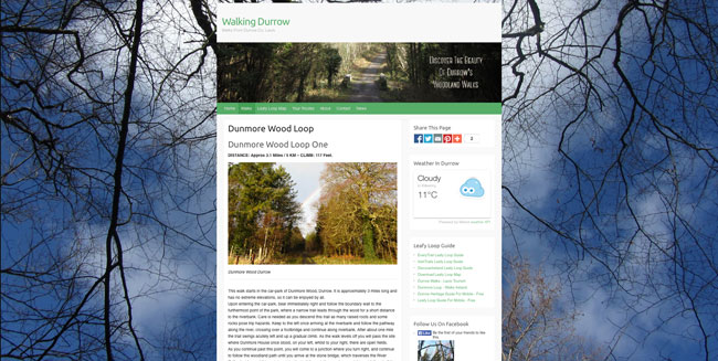 Web Design Laois - Sample - Walking Durrow