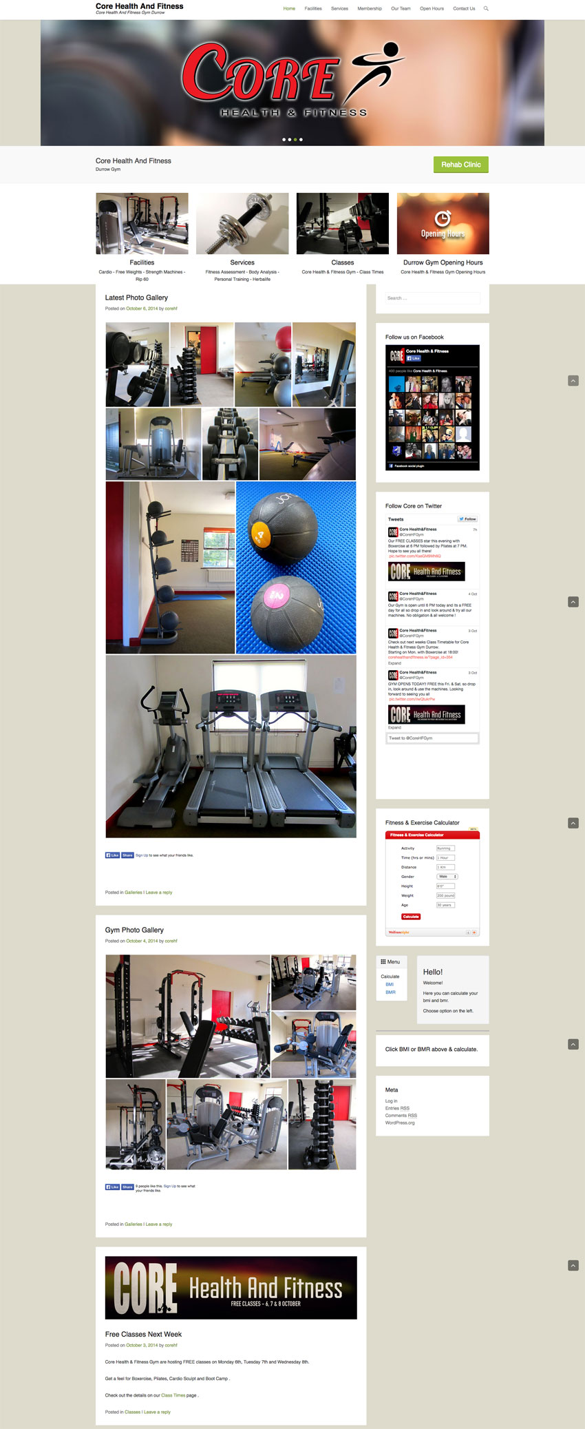 Durrow Laois Gym Website