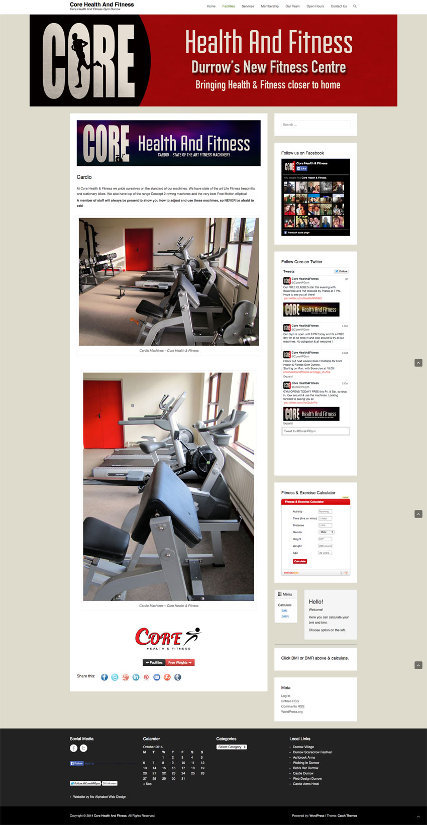 Core Gym Website Durrow Co. Laois
