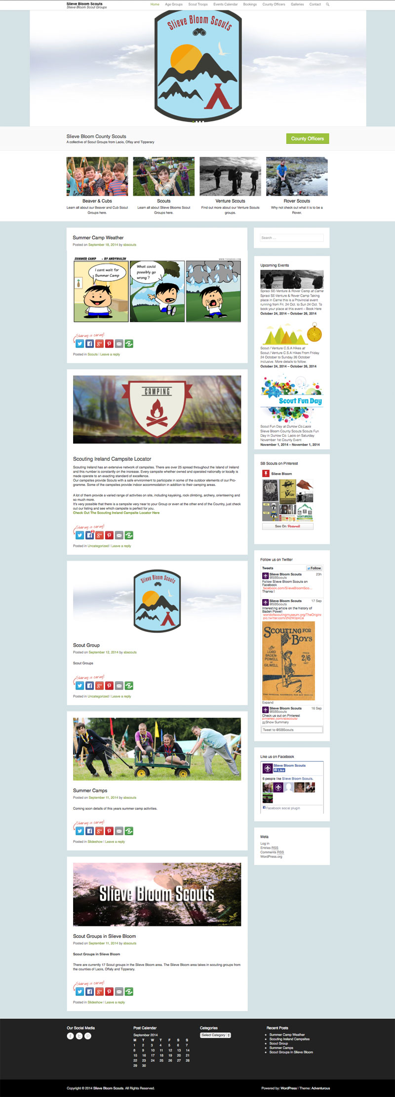 Slieve Bloom Scouts Website For Scout Group
