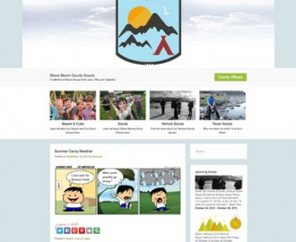 Scouting Website Laois Web Design Sample